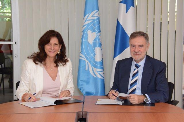 Acuerdo ONU MUJERES y Fundación Microfinanzas BBVA