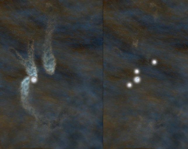 Nacimiento de un cuarteto estelar