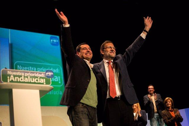 Moreno y Rajoy en el acto