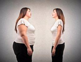 Obesidad, mujer, delgadez