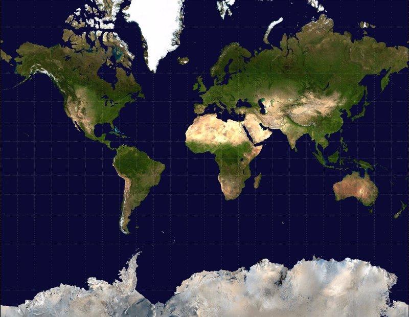 Cmo sera la Tierra si se dibujara un mapamundi realista
