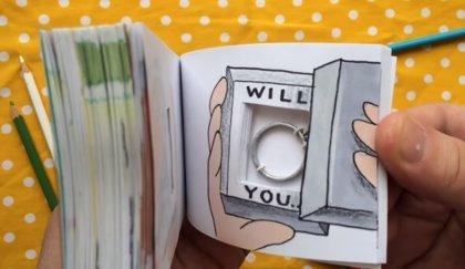 5 ideas para pedir matrimonio con un 'flipbook' o libro animado