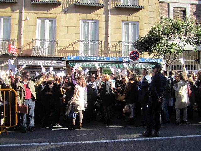 Protesta de secretarios judiciales