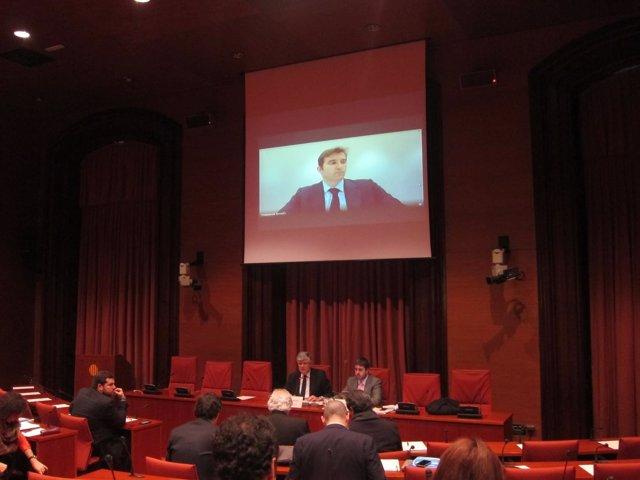 Ferran Soriano en la comisión de investigación sobre Spanair en el Parlament
