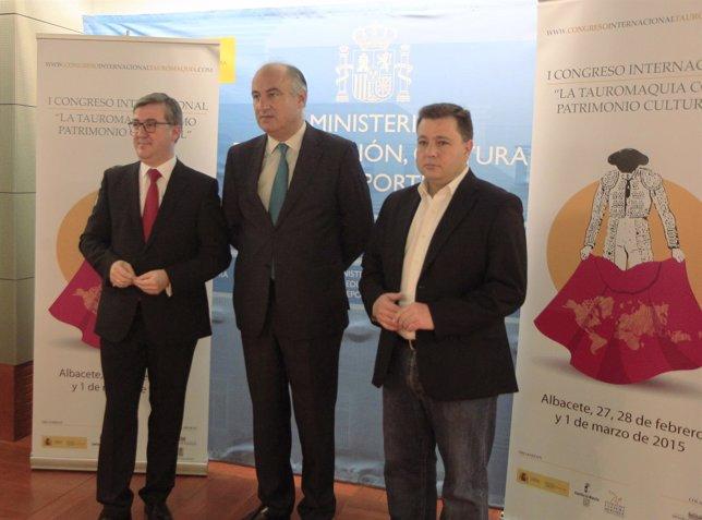 Fernando benzo y Marcial Marín presentan el I Congreso de La Tauromaquia