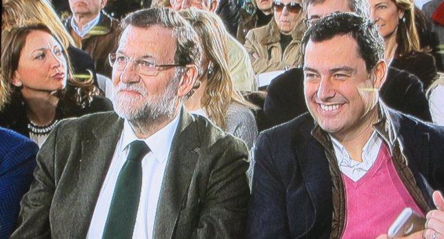 Rajoy junto a Moreno
