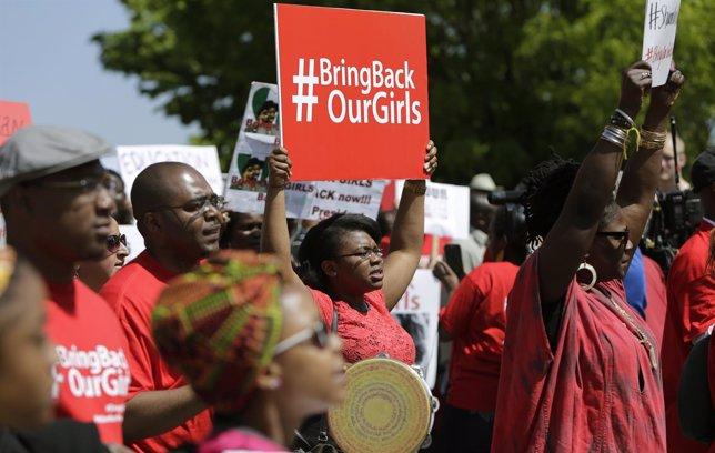 Protestas por el secuestros de niñas en Nigeria por Boko Haram