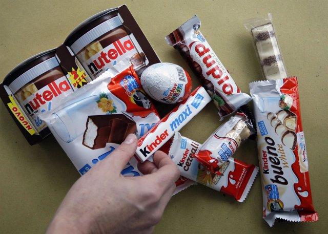 Productos Ferrero como Kinder, Nutella o Ferrero Rocher