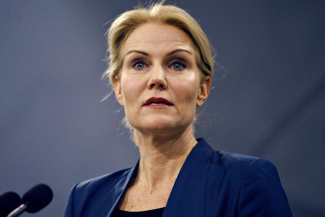 La primera ministra danesa, Helle Thorning-Schmidt, en rueda de prensa