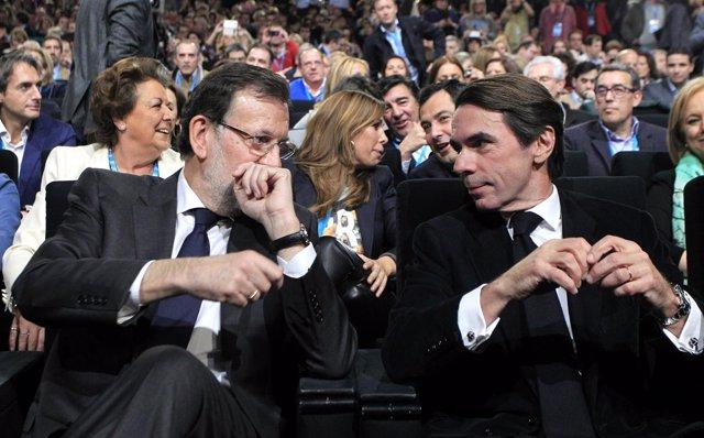 Rajoy y Aznar en la Convención Nacional del PP