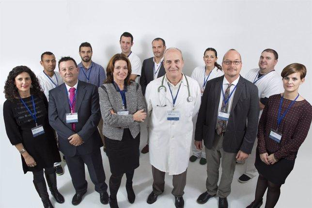 El equipo del Centro MonteAlminara de Málaga