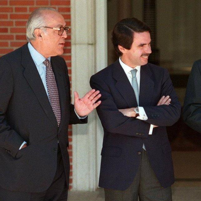 Leopoldo Calvo Sotelo y José María Aznar