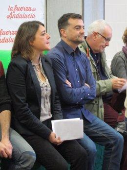 Cortés, junto a Maíllo y Lara