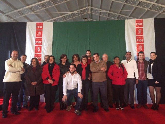 Acto del PSOE en Láchar