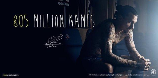 Ibrahimovic campaña Naciones Unidas hambre