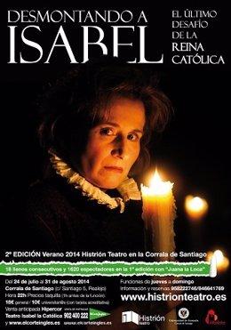 Desmontando a Isabel, obra teatro, cartel, La Católica, reina, Málaga, cultura