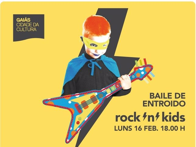 Cartel del 'Rock and kids band' que se celebra en la Cidade da Cultura
