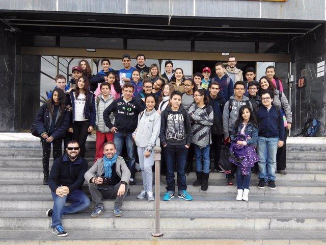 Estudiantes marroquíes visita el Involcan