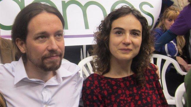 Iglesias y Ubasart en un acto de Podemos en Barcelona