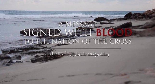 Imagen del vídeo publicado por Estado Islámico