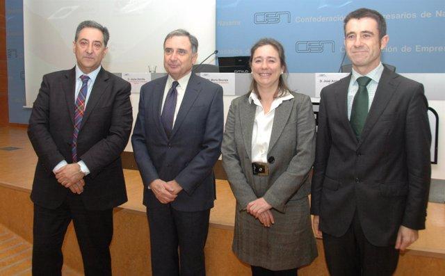 Jesús Zorrilla, José Antonio Sarría, María Beunza y Jon Angulo