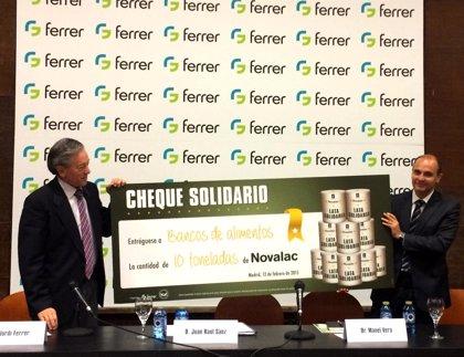 Ferrer y Fesbal reparten 10 toneladas de fórmula 'Novalac' a lactantes y niños en riesgo de exclusión social