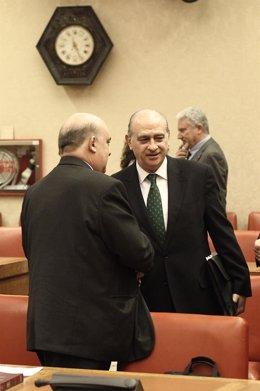 Emilio Olabarria y Jorge Fernández Díaz, en una comisión