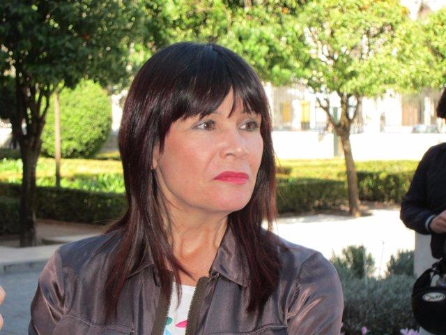 Micaela Navarro en una anterior visita a Córdoba
