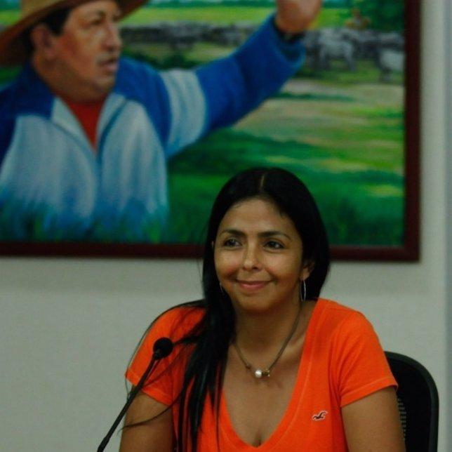 La ministra de Comunicación e Información de Venezuela, Delcy Rodríguez