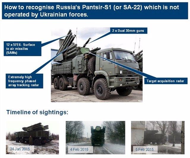 Pruebas difundidas por Reino Unido de la presencia de misiles rusos en Ucrania
