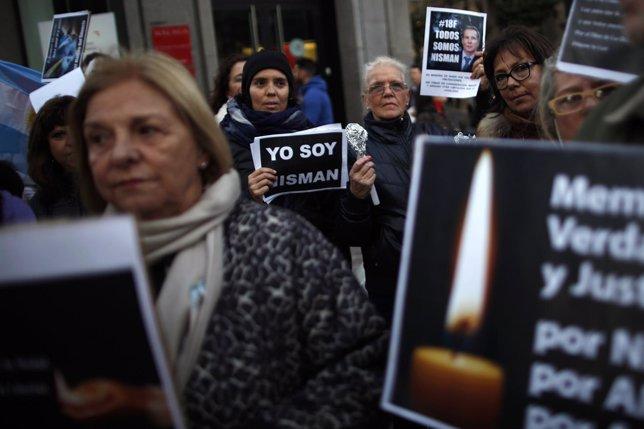 Marcha por Buenos Aires por la muerte del fiscal argentino Alberto Nisman