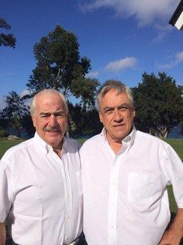 Los ex presidentes Andrés Pastrana y Sebastián Piñera
