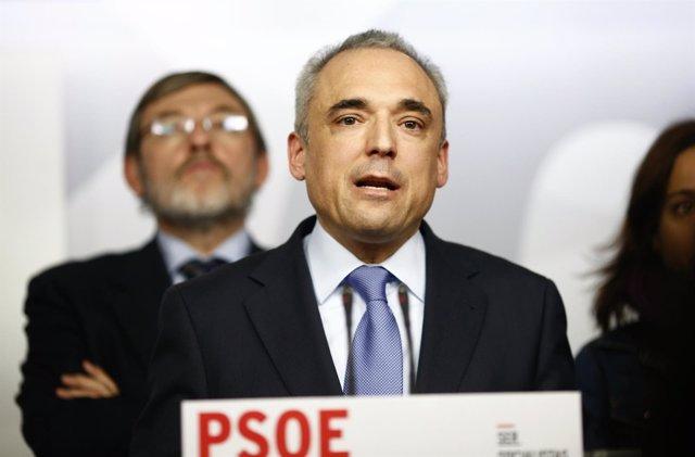 Simancas y Jaime Lissavetzky tras la constitución de la comisión gestora