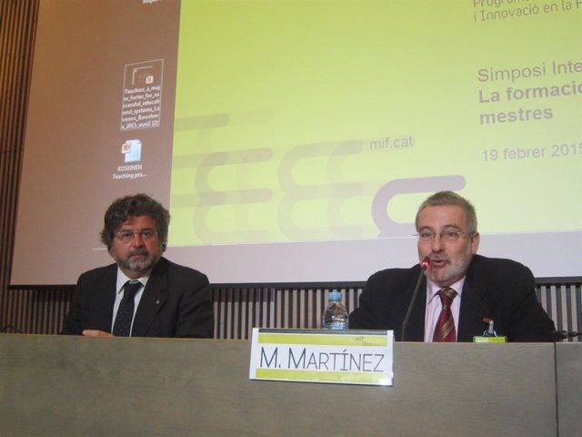 El sec.De Universidades A.Castellà y el coordinador del MIF M.Martínez