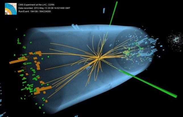 Colisión de protones en el LHC