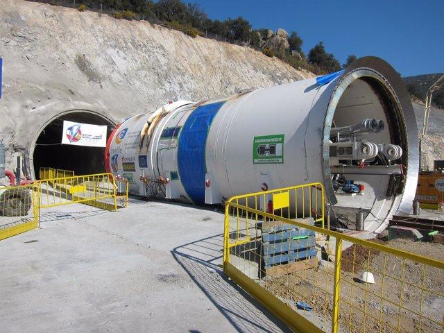 Obras del Túnel De Interconexión Eléctrica España-Francia en la Jonquera (2012)
