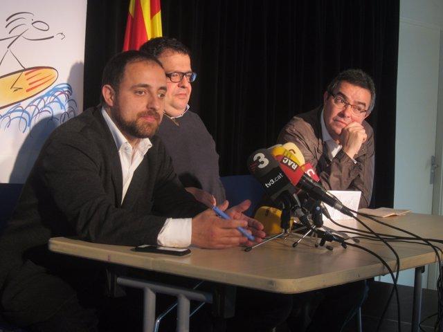 Fabián Mohedano, Joan Ignasi Elena, Jordi del Río (Avancem) (Archivo)