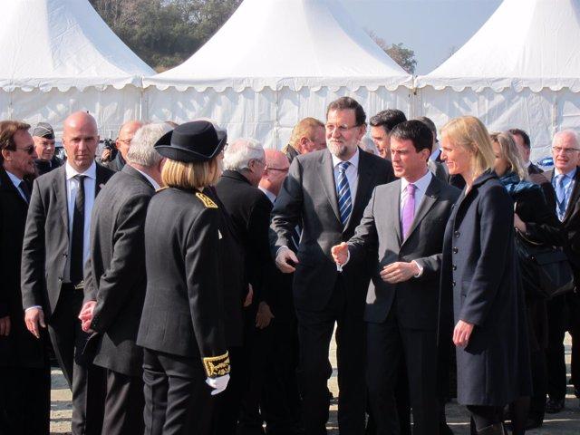 El presidente Mariano Rajoy y el primer ministro francés Manuel Valls