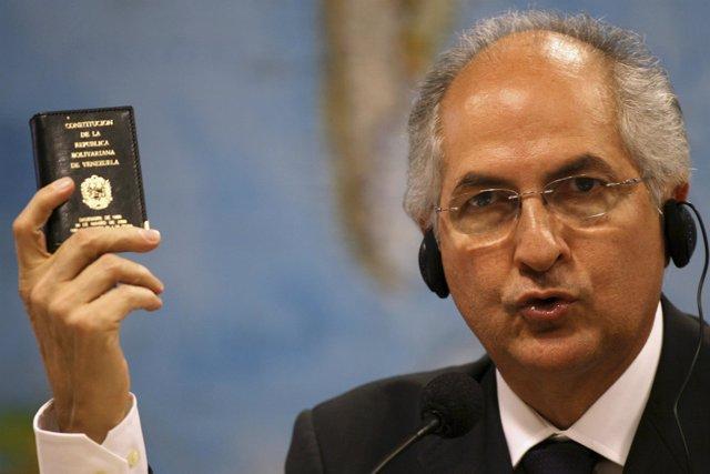 El alcalde de Caracas, Antonio Ledezma,