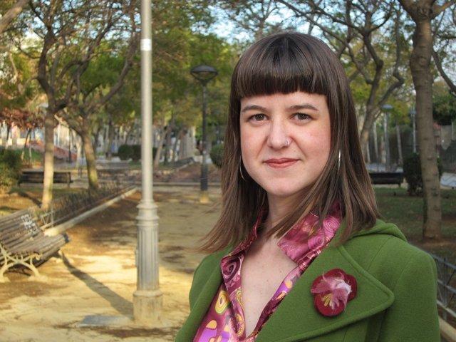 La candidata de Podemos al Parlamento andaluz por Almería, Lucía Ayala