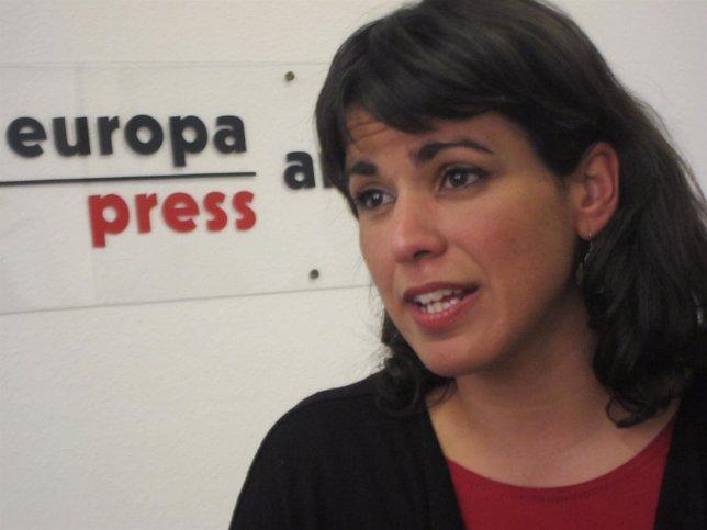 Teresa Rodríguez, durante la entrevista