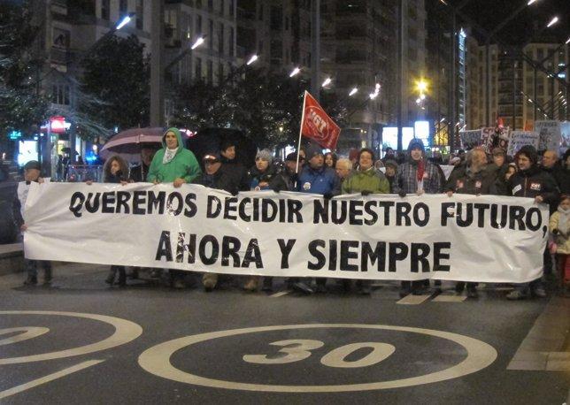 Manifestación por el centro de Logroño