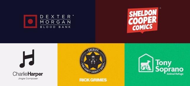 Los protagonistas de las series en logos