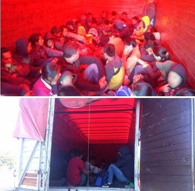 Emigrantes hacinados rescatados en México