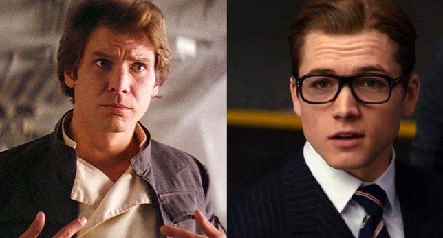 Harrison Ford y Taron Egerton
