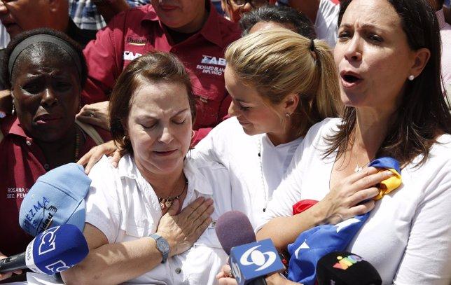 Mitzy Capriles, esposa del alcalde de Caracas, Antonio Ledezma