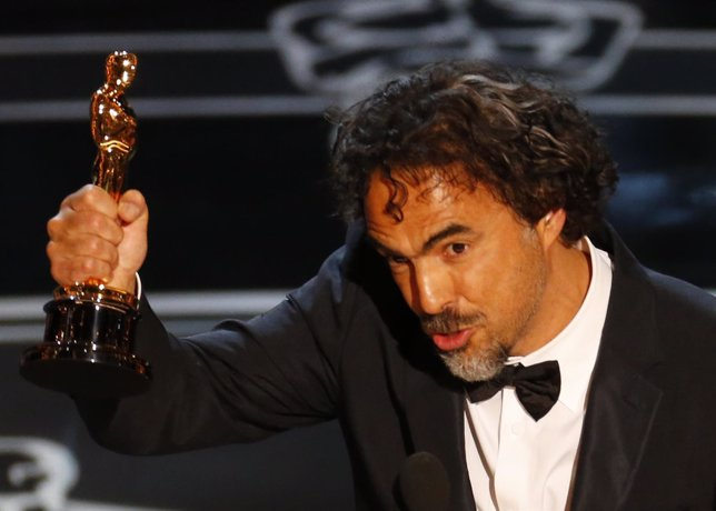 Director Alejandro Inarritu accepts the Oscar for Best Director for his film