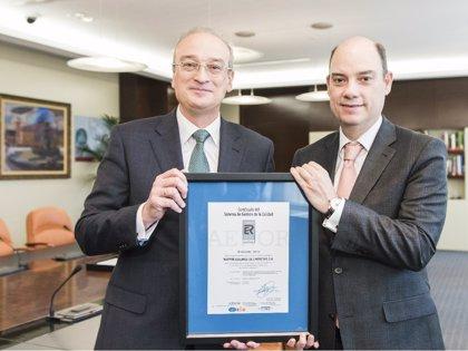 Mapfre obtiene el certificado AENOR de Calidad ISO 9001 para prestaciones patrimoniales y de gestión médica