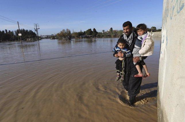 Inundaciones en Gaza
