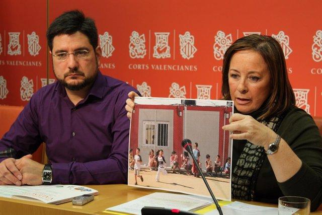"""Blanco y Sanz enseñan """"el mapa de la pobreza"""" de los barracones del PP"""